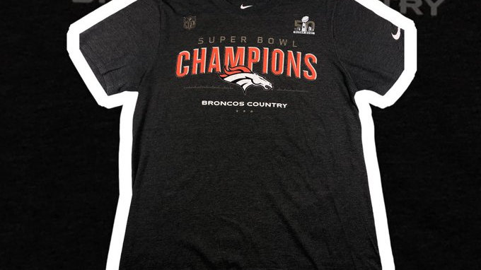 Denver Broncos Super Bowl Champions Tee- Medium