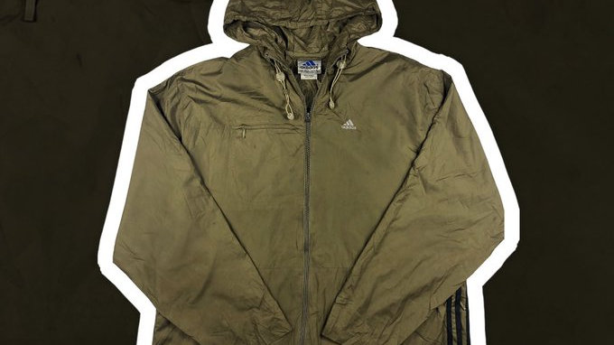 Adidas Brown/ Green Windbreaker- Large
