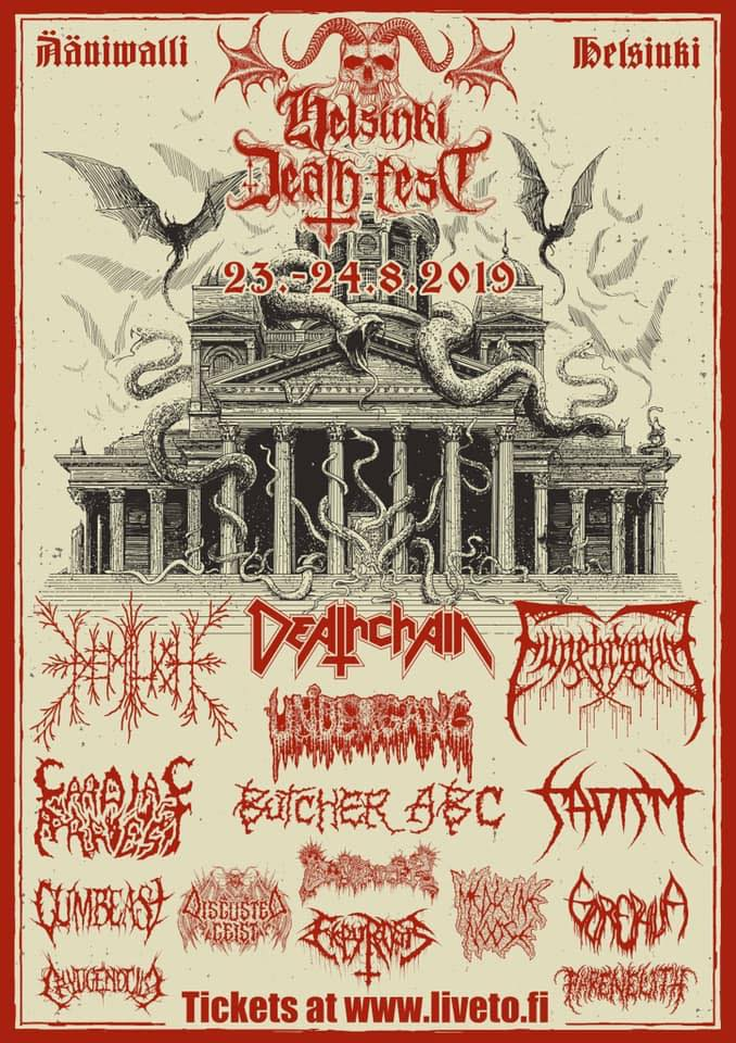 Funebrarum Shadows of Putrefaction Tour Helsinki Death Fest