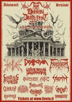 Funebrarum Shadows of Putrefaction Tour Helsinki Death Fest