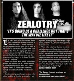 Zealotry in Terrorizer Mag