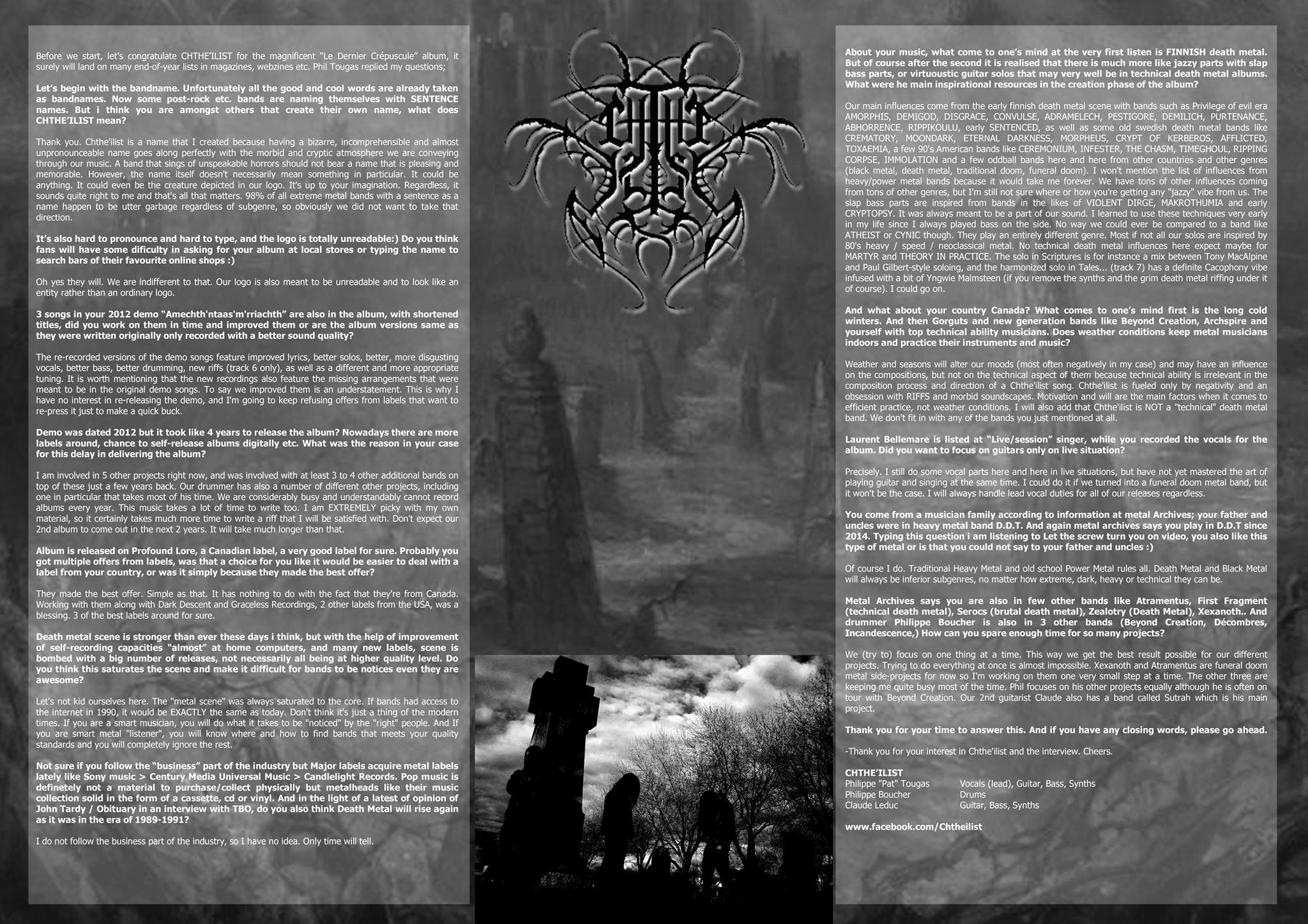 Chthe'ilist interview