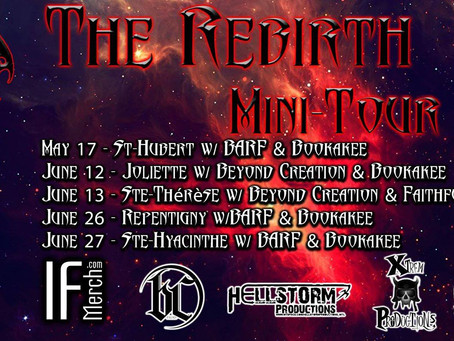News : Brought By Pain announces rebirth mini-tour and dual Montreal appearances