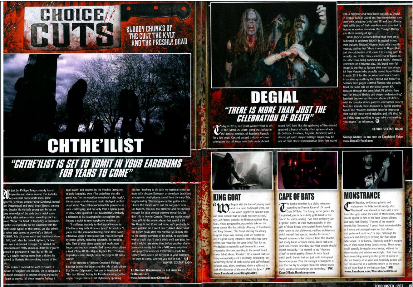Chthe'ilist in Terrorizer Mag
