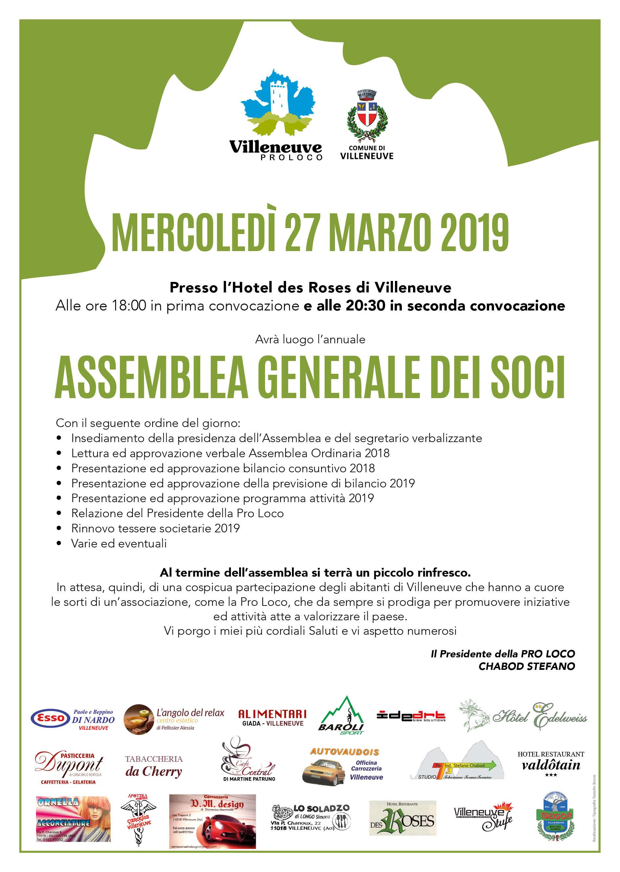 Pro Loco Villeneuve - Assemblea marzo 20