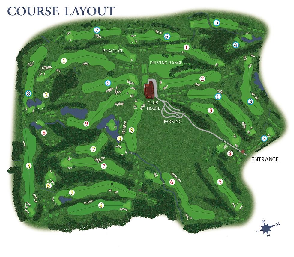 Golf Hotel Castelconturbia Course Layout