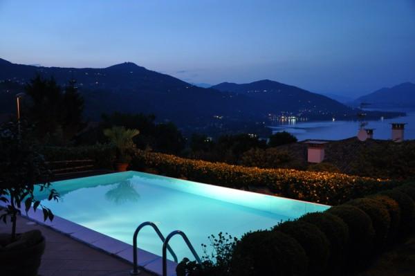 Swimming Pool by Night Villa Belvedere Lago Maggiore