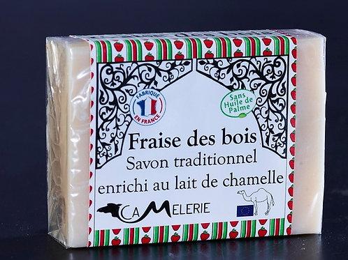 """Savon au lait de Chamelle """"Fraise des bois"""""""