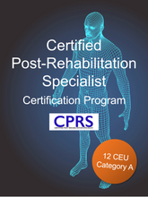 Certified Post-Rehab Specialist