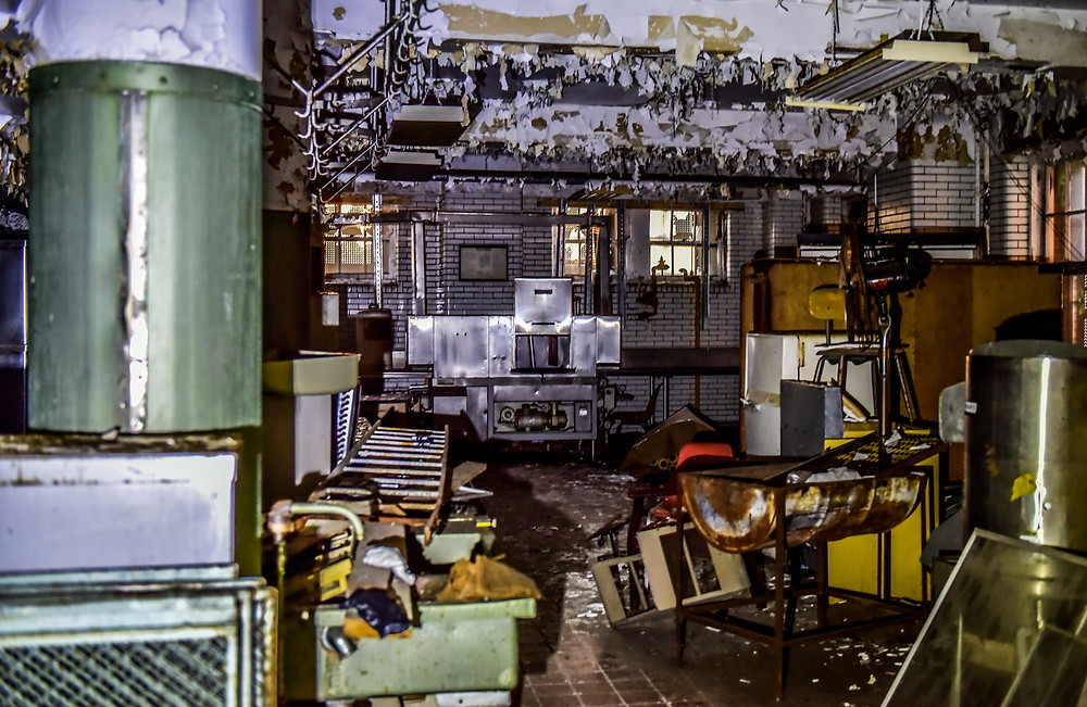 Eloise, Abandoned, Michigan, Haunted, Detroit Paranormal Expeditions, J&C Photography, Broken, Ghost, Kitchen, Peeling Paint