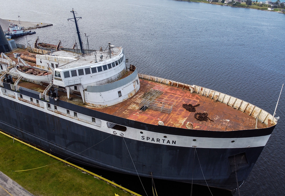 SS Spartan, Ship, Abandoned, J&C Photography, Boat, Ludington, Michigan, Spartan, MSU, Drone, MavicMini