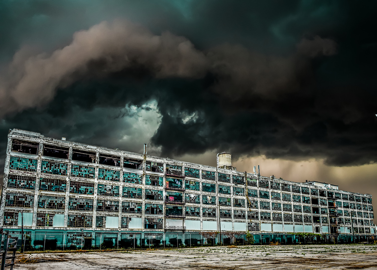 Storms over Packard Plant