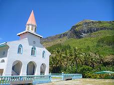 Pension Ataha, Raivavae, église Raivavae, Village Raivavae
