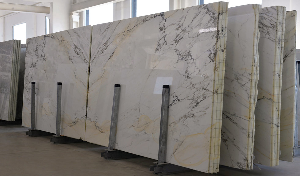 Stack of marble o stone slabs. Luxury in