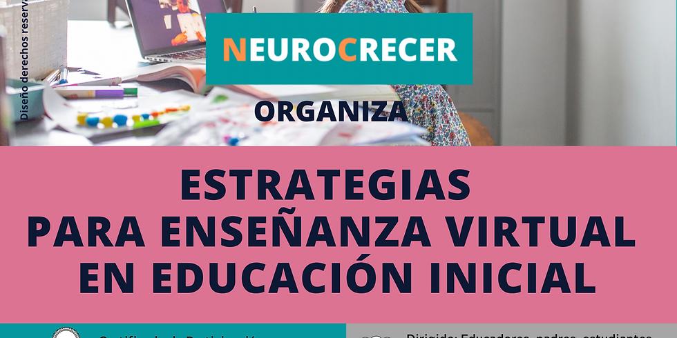 ESTRATEGIAS PARA ENSEÑANZA VIRTUAL EN EDUCACIÓN INICIAL