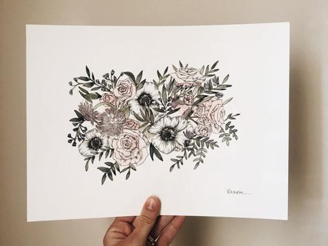 Wedding Bouquet Print