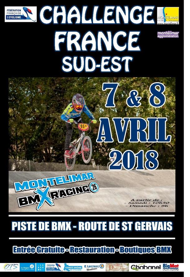 Liste des engagés pour la 1ère manche du Challenge France Sud-Est les 7 et 8 avril 2018 à Montélimar