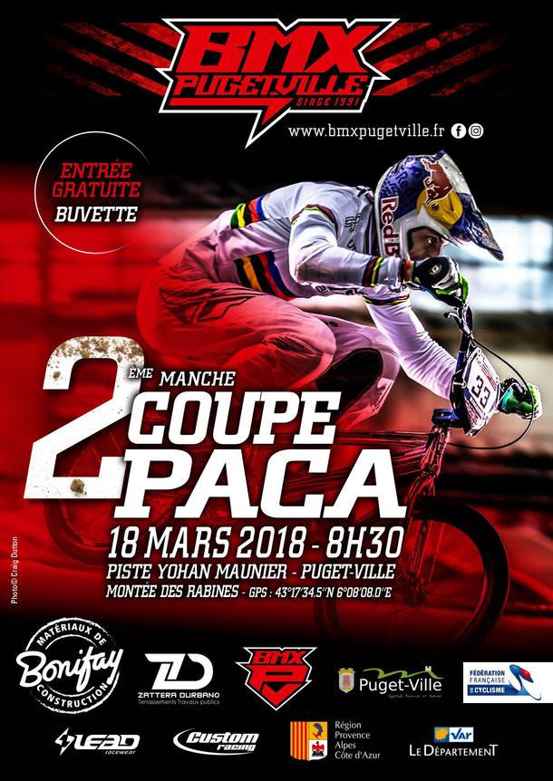 Invitation pour la 2ème manche de la coupe P.A.C.A dimanche 18 mars 2018 à Puget-Ville (83), infos d