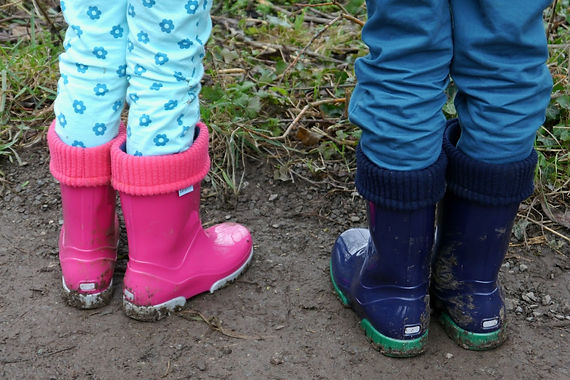 The Mummy Diary -pink and blue wellies.j