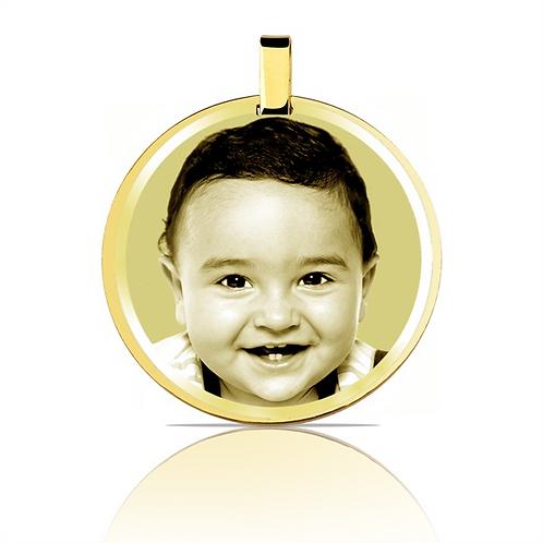 Pingente personalizado  folhado dourado.