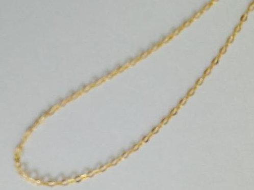 Corrente de ouro americana 18k 45 cm.