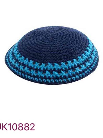 Kipa de Crochê azul marinho