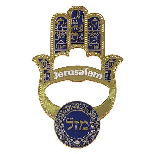 hamsá Jerusalém abridor de garrafa.