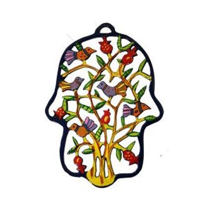 Hamsa floral do artista Emanuel