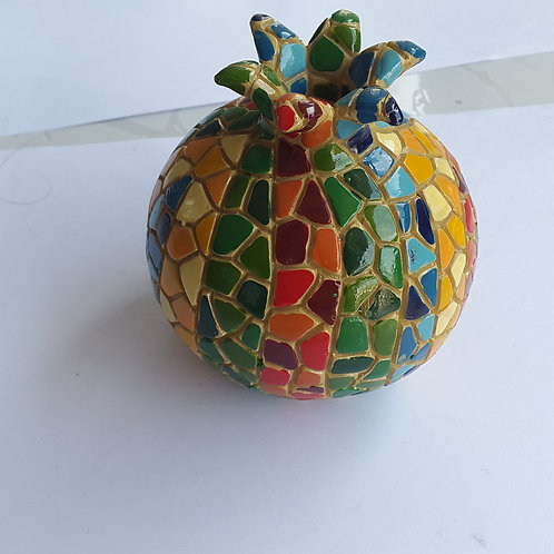 Enfeite roma mosaica de cerâmica