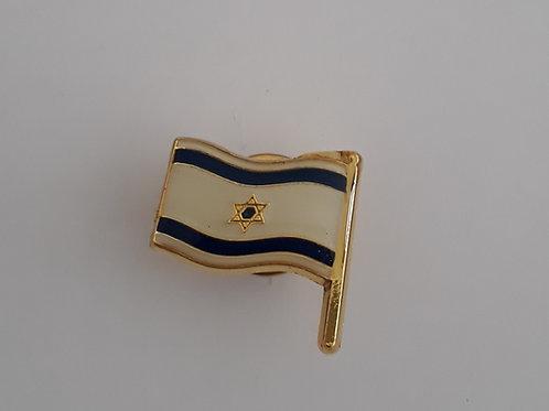 Bottom  Bandeira de Israel de metal .