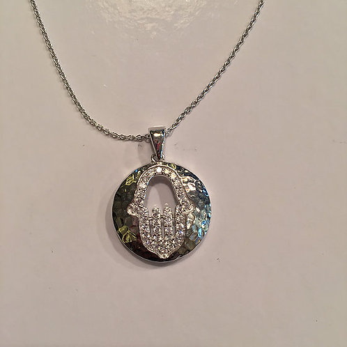 Colar de Hamsa com Opal de prata.