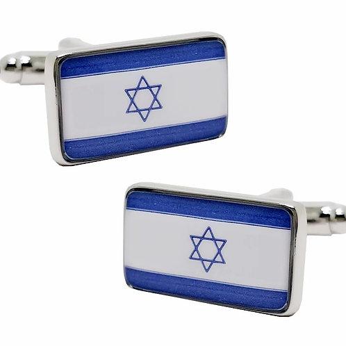 Abotoaduras Bandeira de Israel