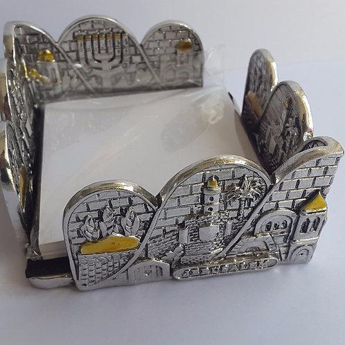 Porta cartão de metal desenho de Jerusalém