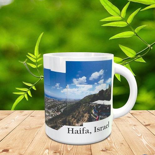 Caneca paisagem de Israel - Haifa