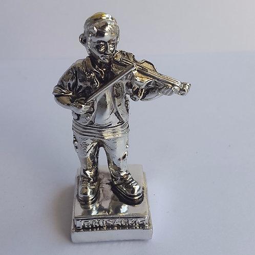 Enfeite de metal de chassid com violino
