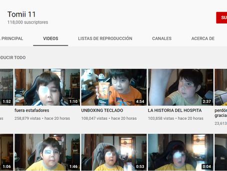 """""""Tommi 11"""" el pequeño que cumple su sueño de ser un Youtuber reconocido👏🏼🎉"""