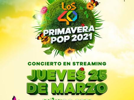 """Disfruta """"Los 40 Primavera Pop"""" un festival de música para darle la bienvenida a la Primavera🐞🦋🎶"""
