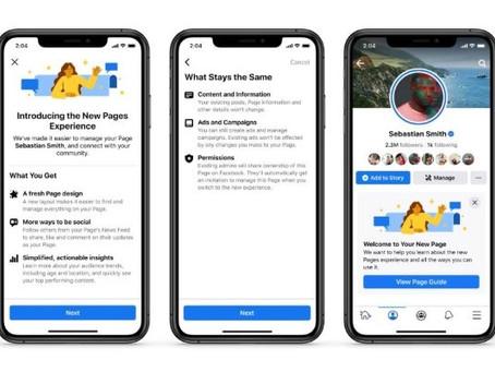 ¡Por fin! Facebook presenta cómo lucirán próximamente sus páginas en la plataforma😱