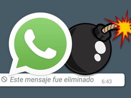 WhatsApp trabaja en imágenes que se autodestruyen después de verlas 💣😱