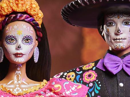 """Por tercer año """"Barbie"""" nos sorprende con colección de Día de Muertos🌼☠️🌼 ¡Ken se incluye!😱"""