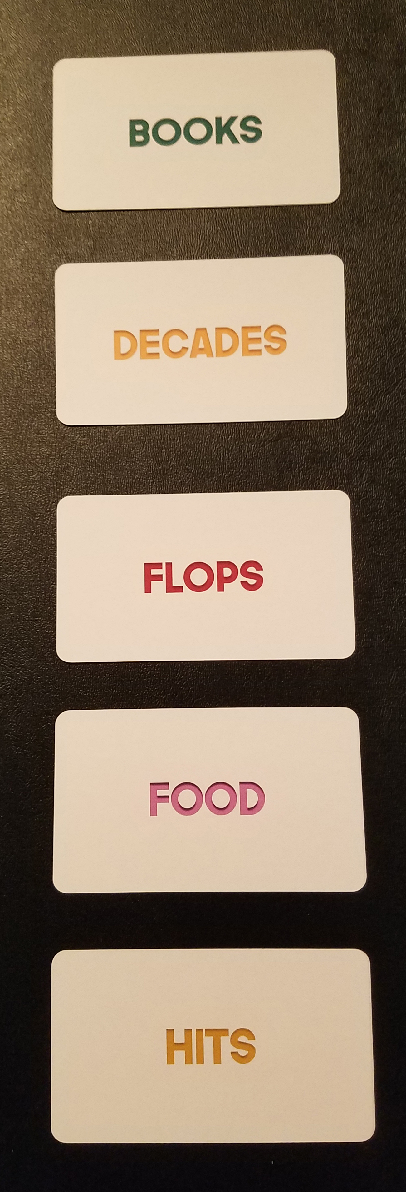 Category Cards – Bottom; 6–10