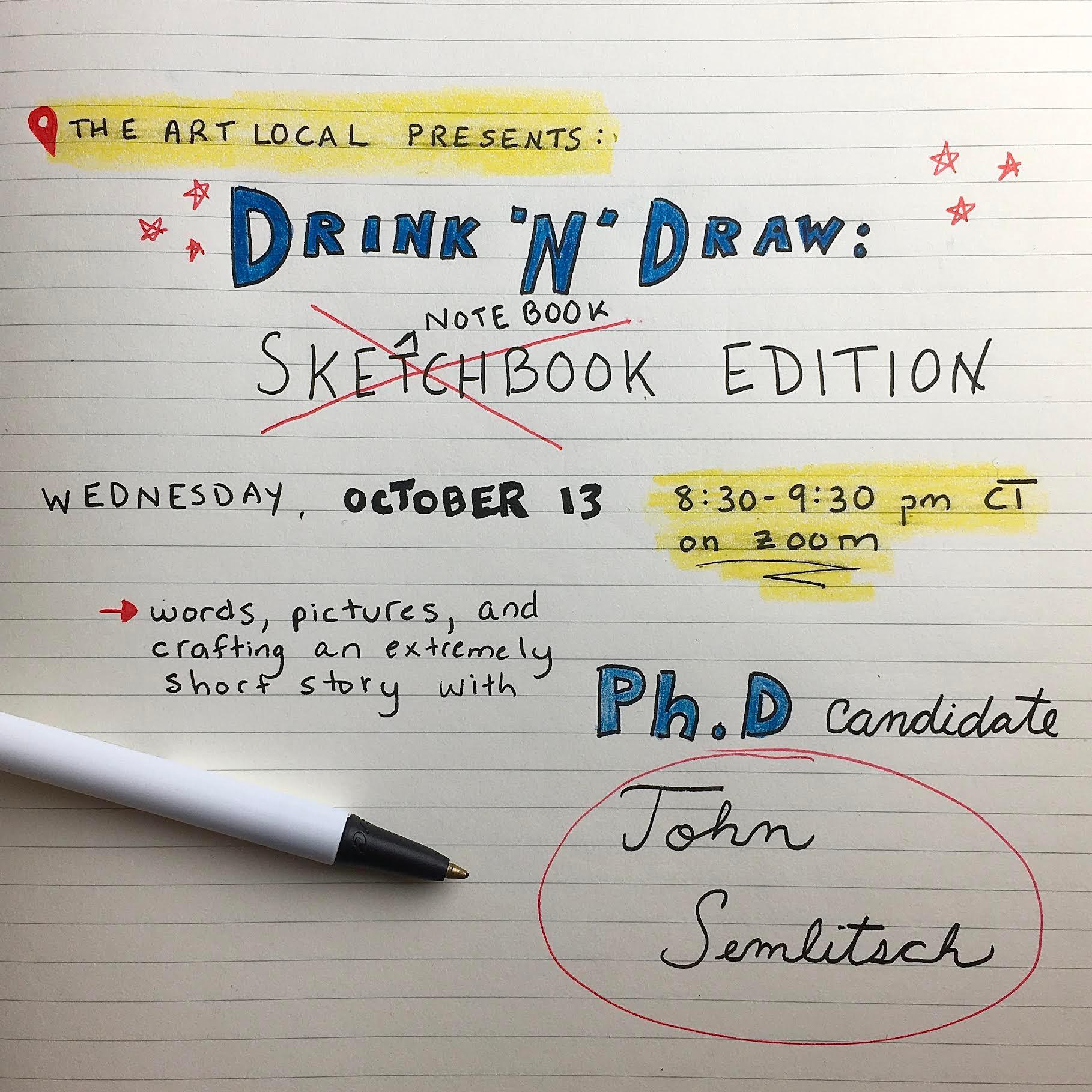 Drink 'N' Draw: Sketchbook Edition