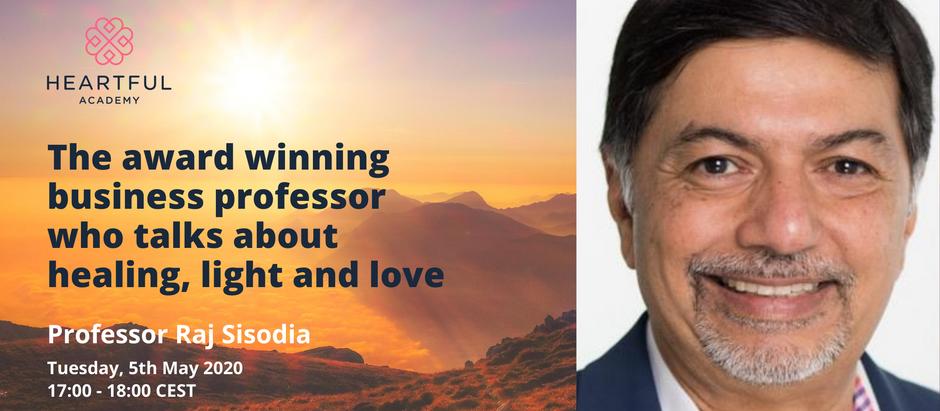 The award winning business professor who talks healing, light and love