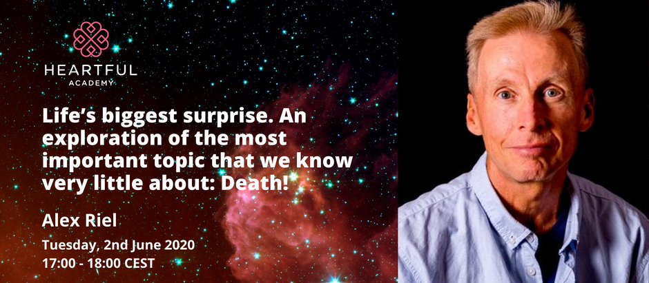 Life's biggest surprise. An exploration of a topic we normally avoid: Death!