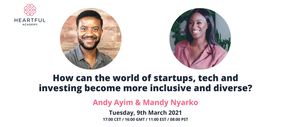 How can the world of startups and investing become inclusive & diverse?