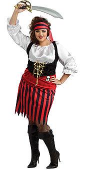 Pirate girl plus size