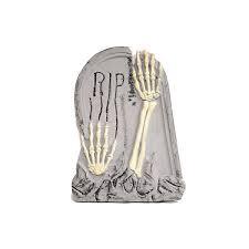 """20"""" Skull Hands Tombstone"""