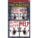 Help / Do Not Enter Window Clings