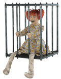 Animated girl in cage