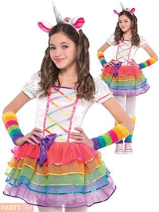 Rainbow Unicorn Girls Costume